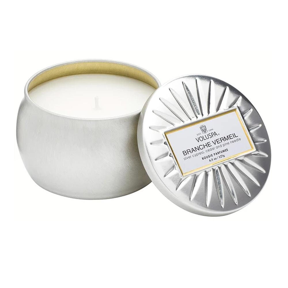 Voluspa Branche Vermeil Tin Candle Mini