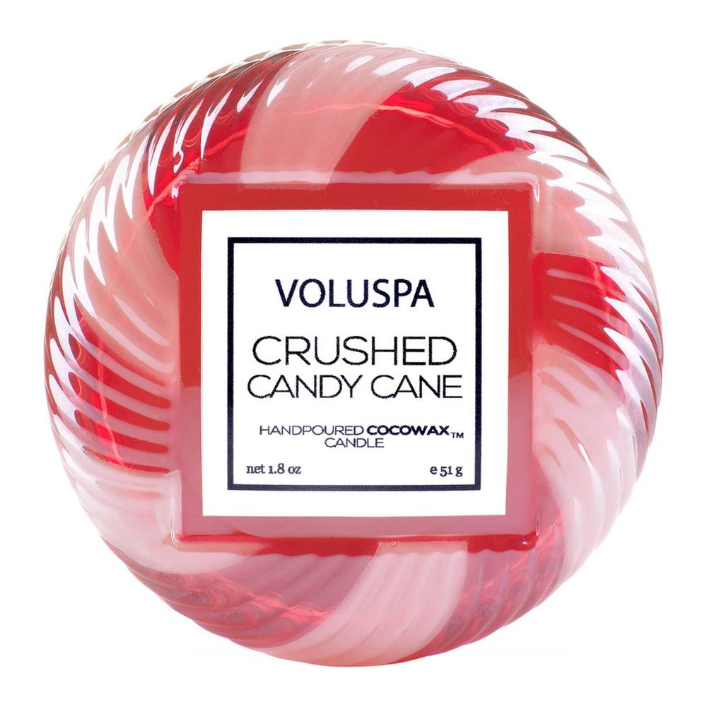 Voluspa Crushed Candy Cane Macaron Candle Top