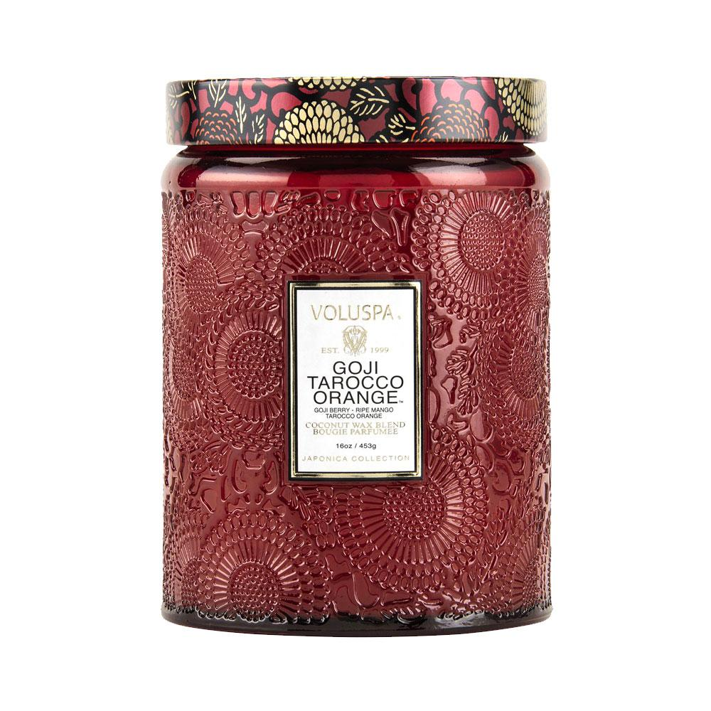 Voluspa Goji Tarocco Large Glass Candle