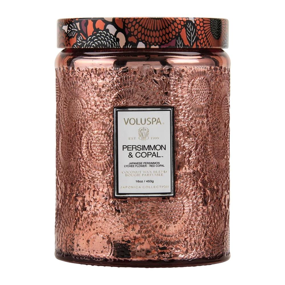 Voluspa Persimmon Copal Large Glass Candle