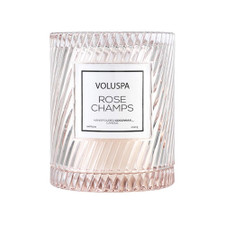 Voluspa Rose Champs Candle with Cloche Cover