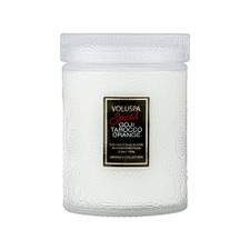 Voluspa Spiced Goji Tarocco Orange Mini Glass Jar Candle