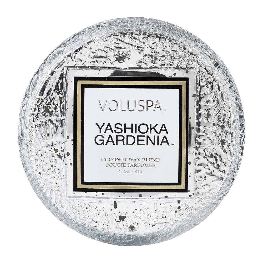 Voluspa Yashioka Gardenia Macaron Candle Top