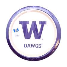 "W Dawgs Plate 7"""