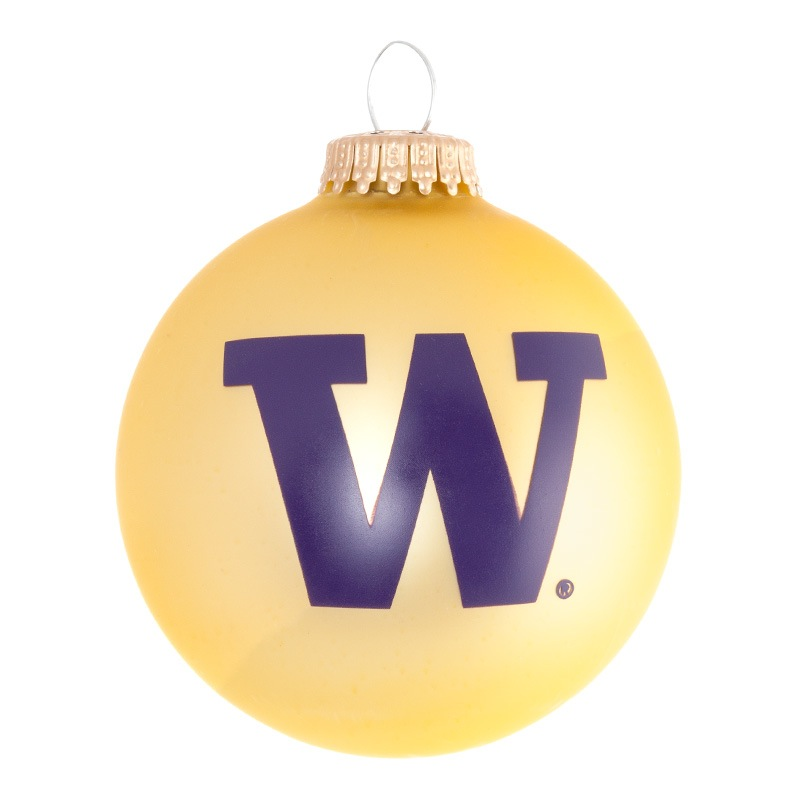 UW Ornament Gold and Purple Ball