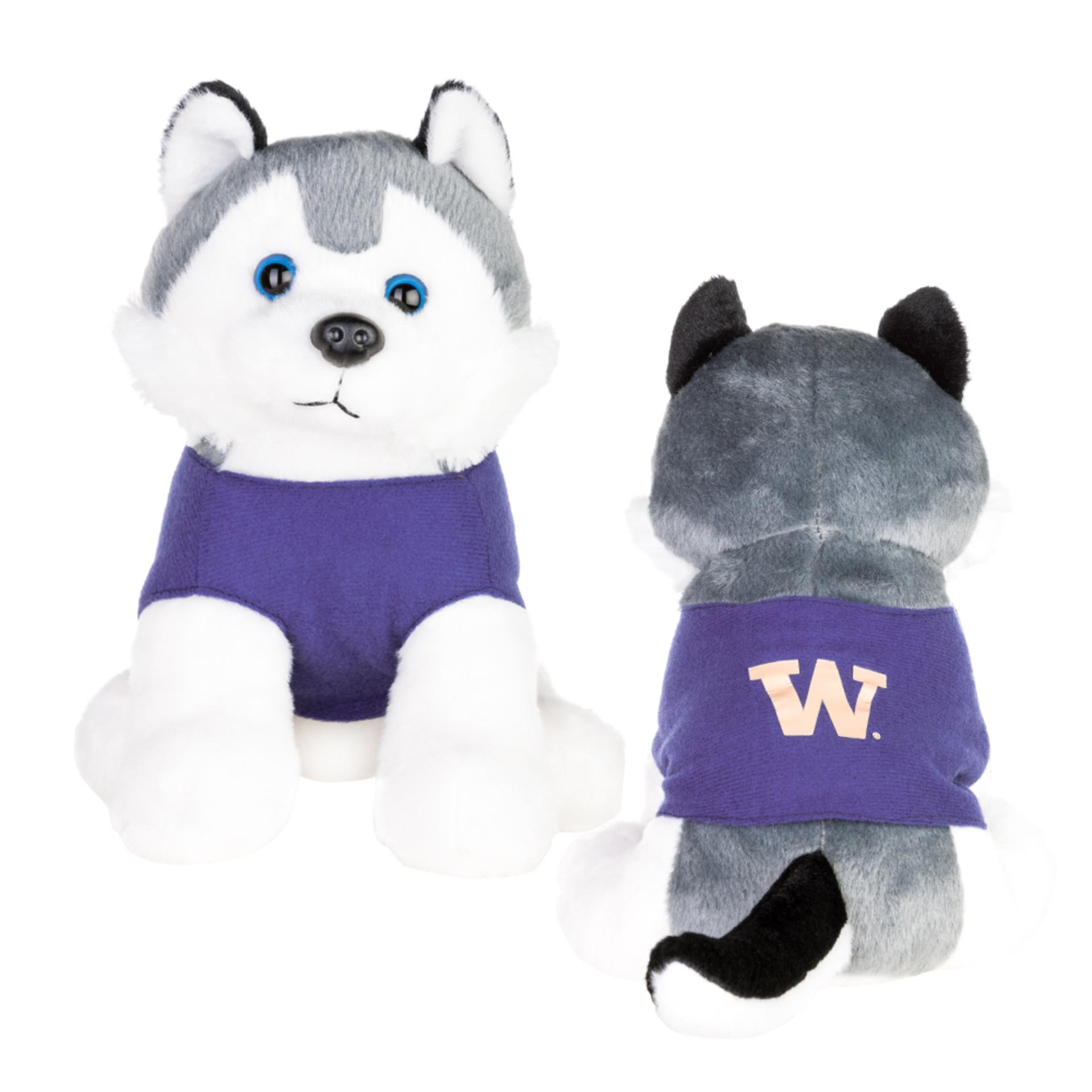 """Mascot Factory UW Husky Plush Wearing Tee 8.5"""""""