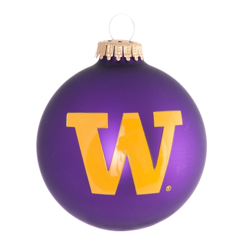 UW Purple and Gold Ball Ornament