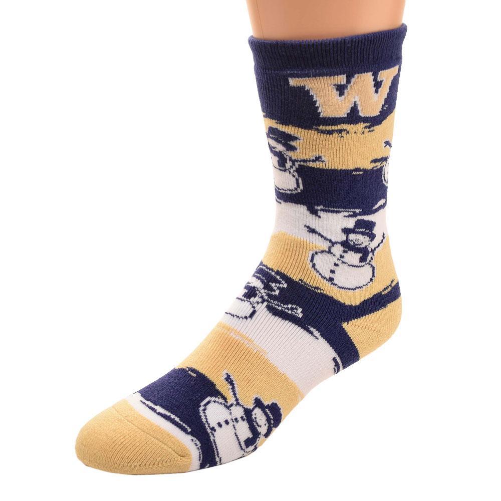 W Snowman Holiday Crew Sock