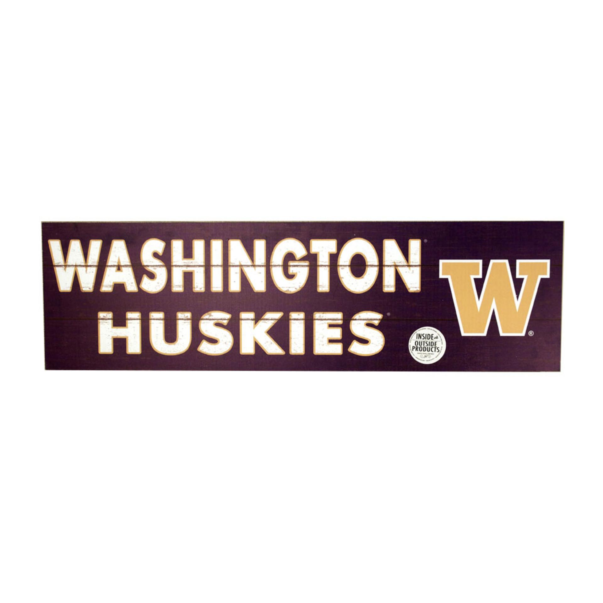 Washington Huskies W Indoor/Outdoor Sign 35x10