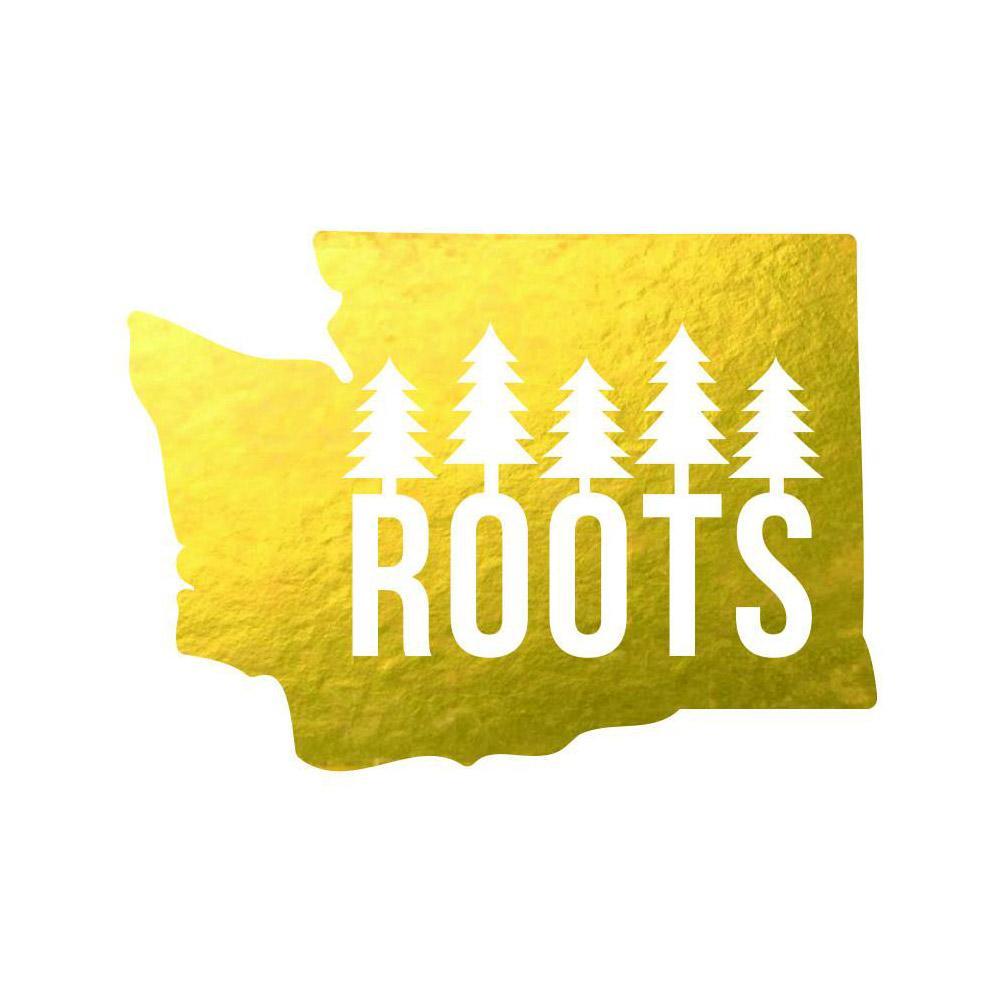 Stickers Northwest Washington Roots Sticker