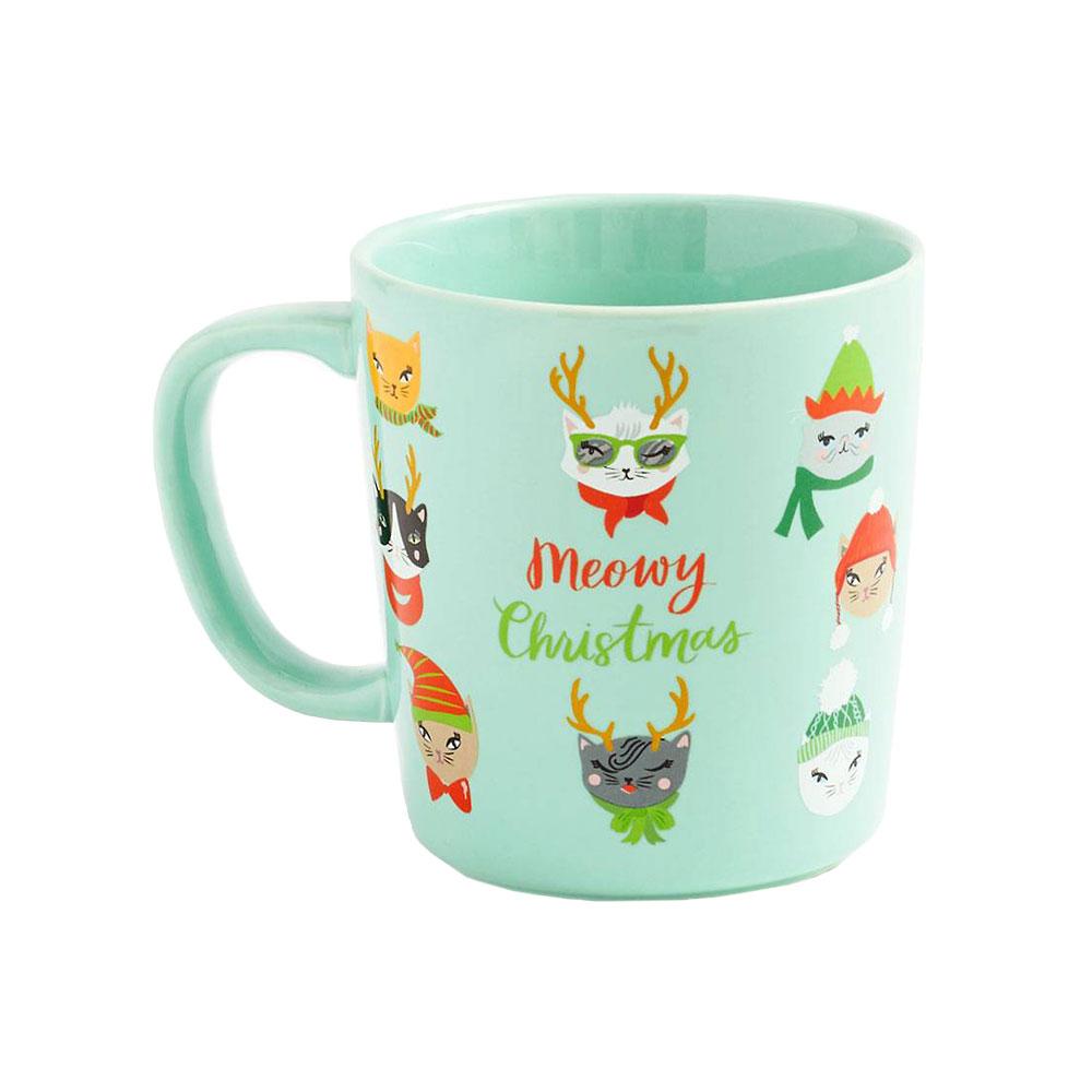 Waste Not Paper Meowy Christmas Mug