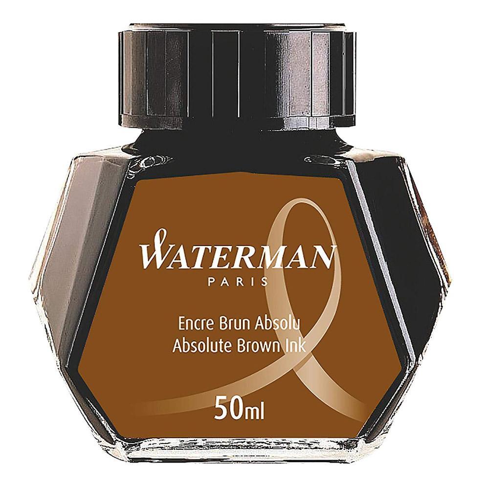 Waterman 50ml Fountain Pen Ink Brown