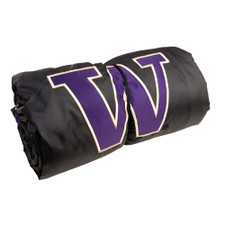 Know Wear Purple and Black W Water Repellent Hooded Blanket