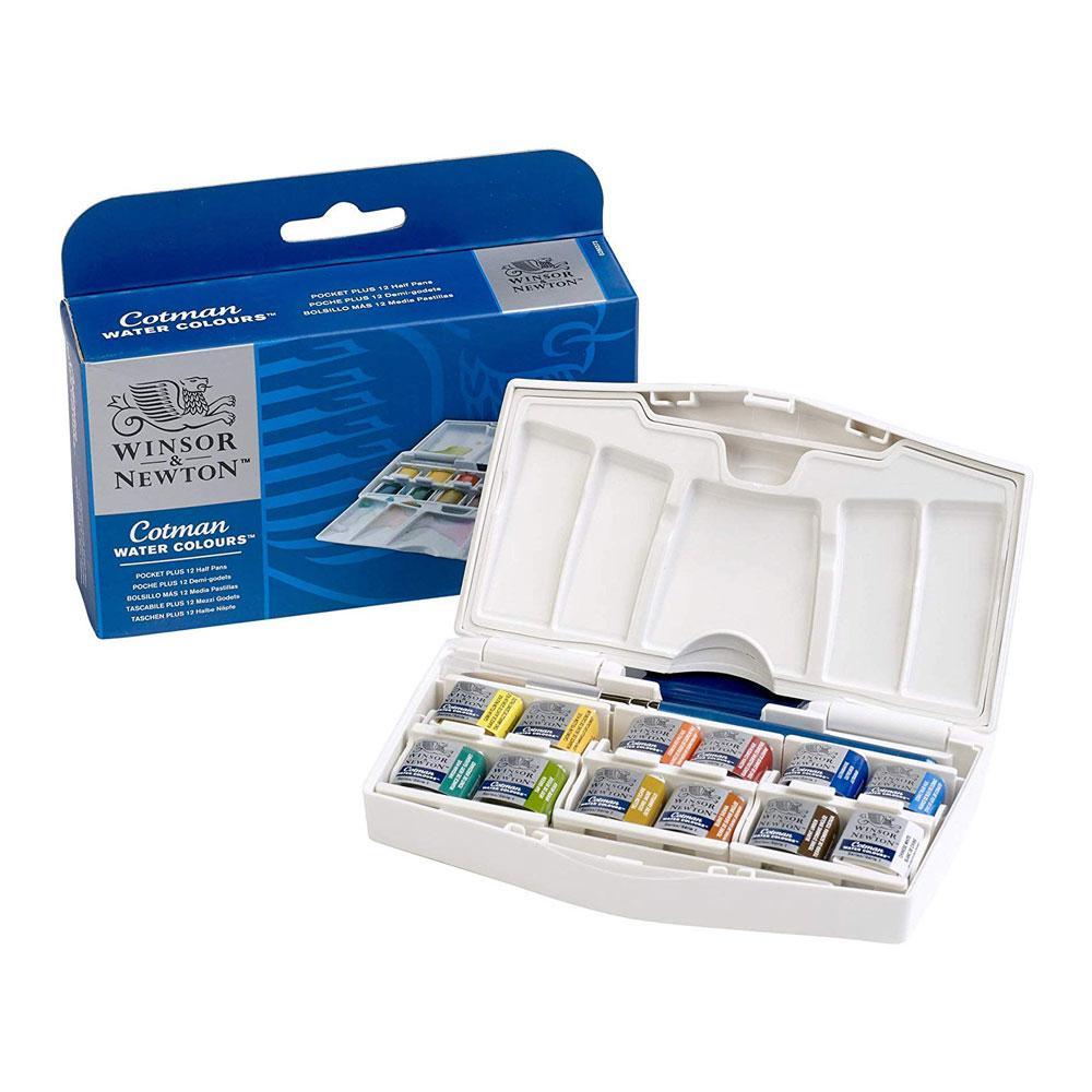 Winsor & Newton Cotman Watercolor Pocket Plus Set