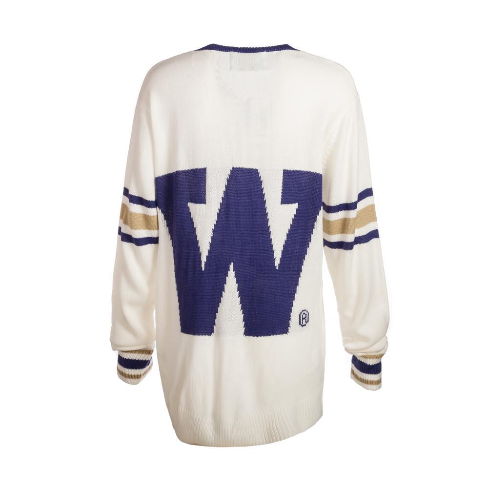 Women's White W Tribute V-neck Sweater