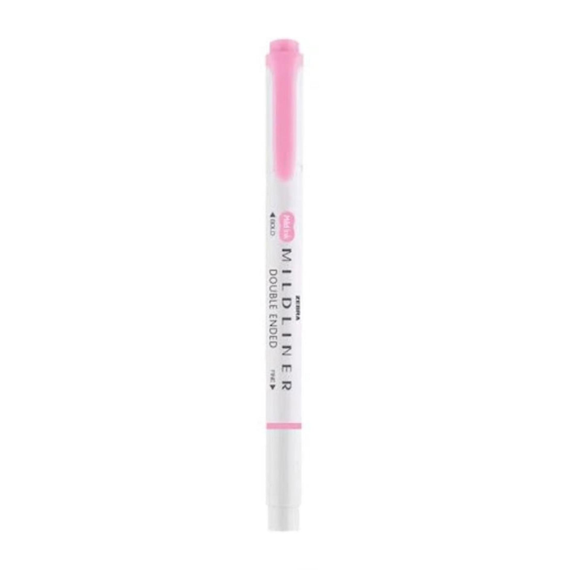 Zebra Mildliner Dual-Tipped Highlighter Pink