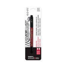 Zebra Zensations Brush Pen Black Dual-Tip