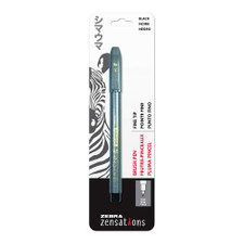 Zebra Zensations Brush Pen Fine Point Black