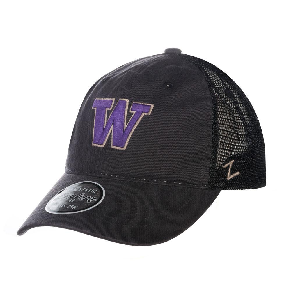 46c9faa6febc3 Zephyr Gray Black Washington W Raven Soft Mesh Snapback.  25.95. Nike  Washington Heritage86 Buckle Hat Purple Front