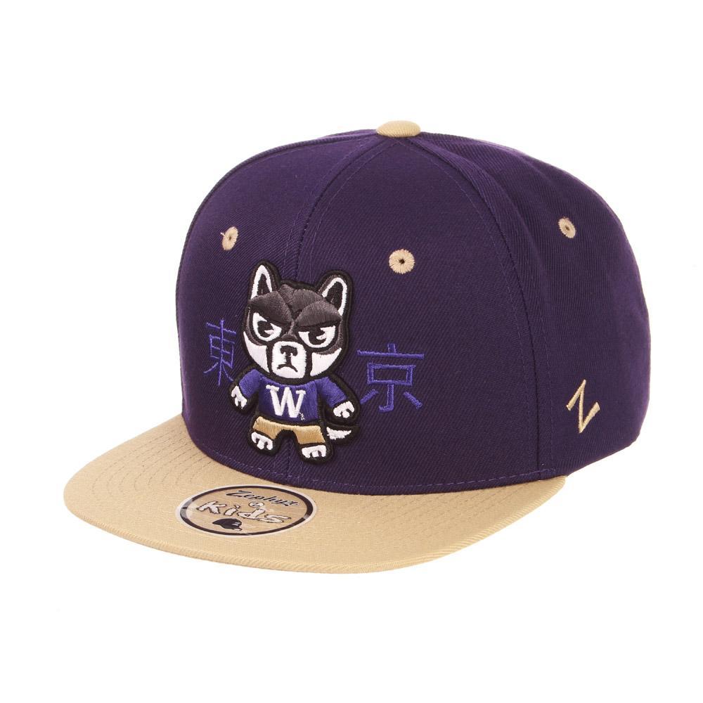 Zephyr Kid s Purple Tokyodachi Husky Harajuku Snapback Hat 515477f9a34