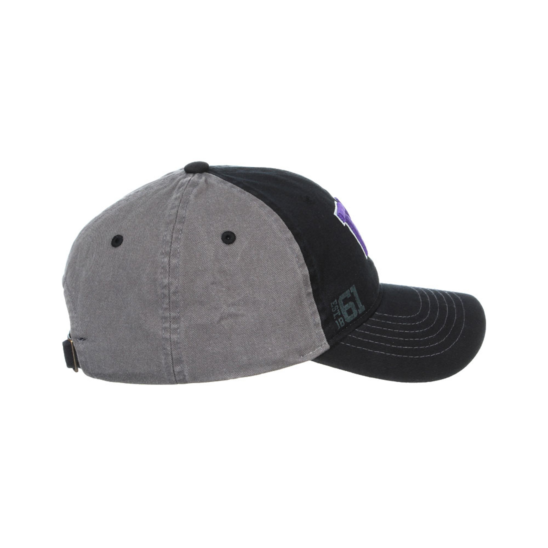 Zephyr Unisex Black W Origin Adjustable Hat – Side