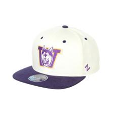 Zephyr Unisex Ivory Vault Dog W Paramount Snapback Hat – Front