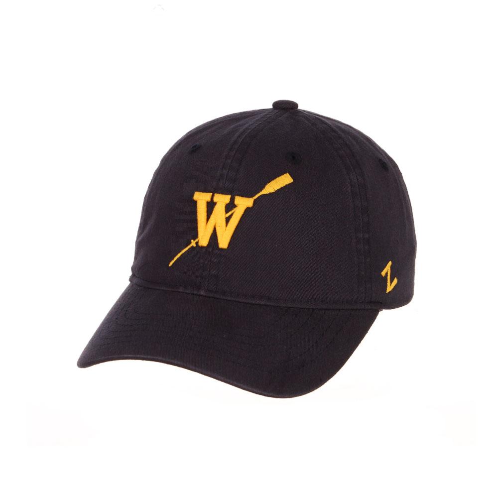 Zephyr Unisex Navy W Oar Scholarship Adjustable Hat – Front