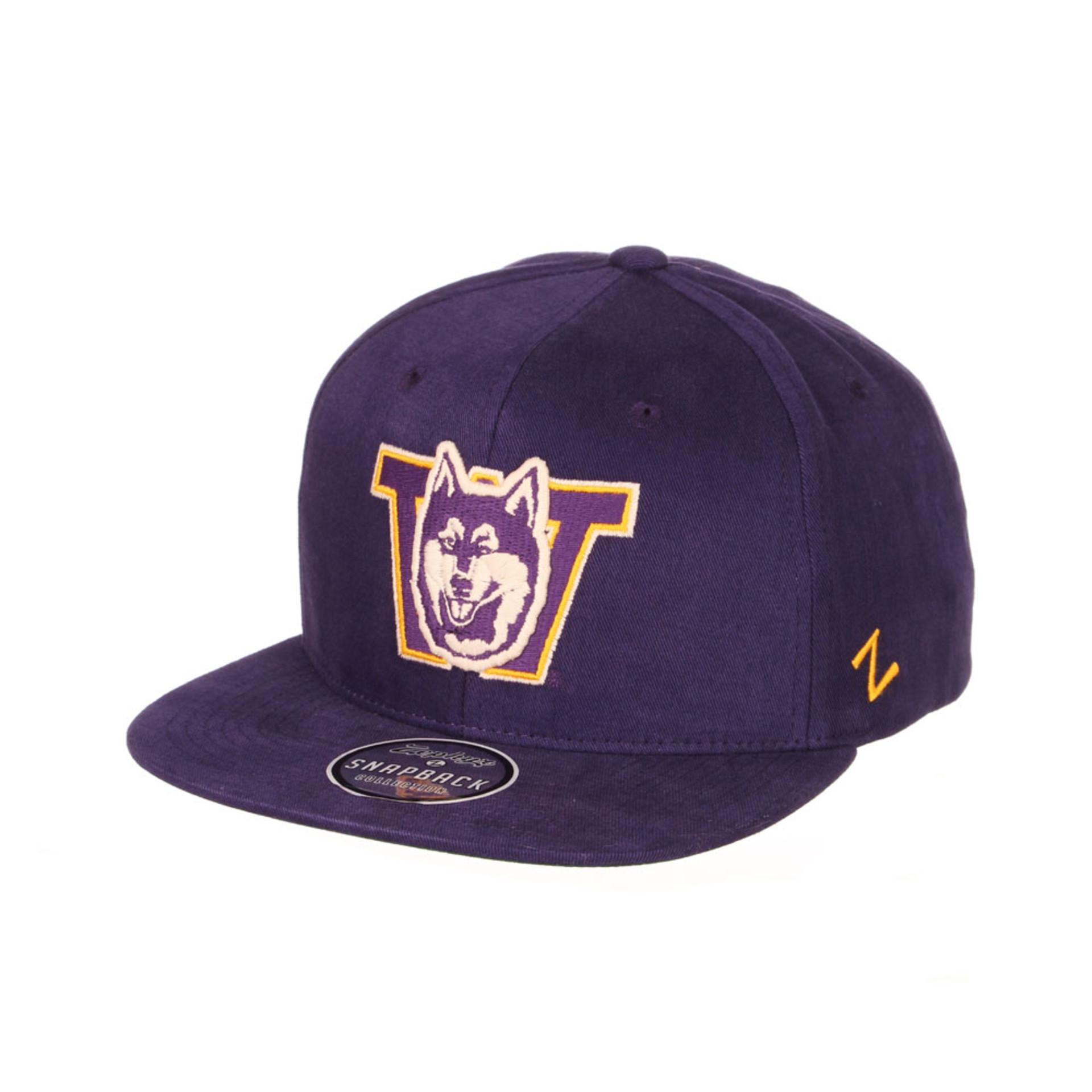 Zephyr Unisex Purple Vault Dog W Brushed Cotton Snapback – Front