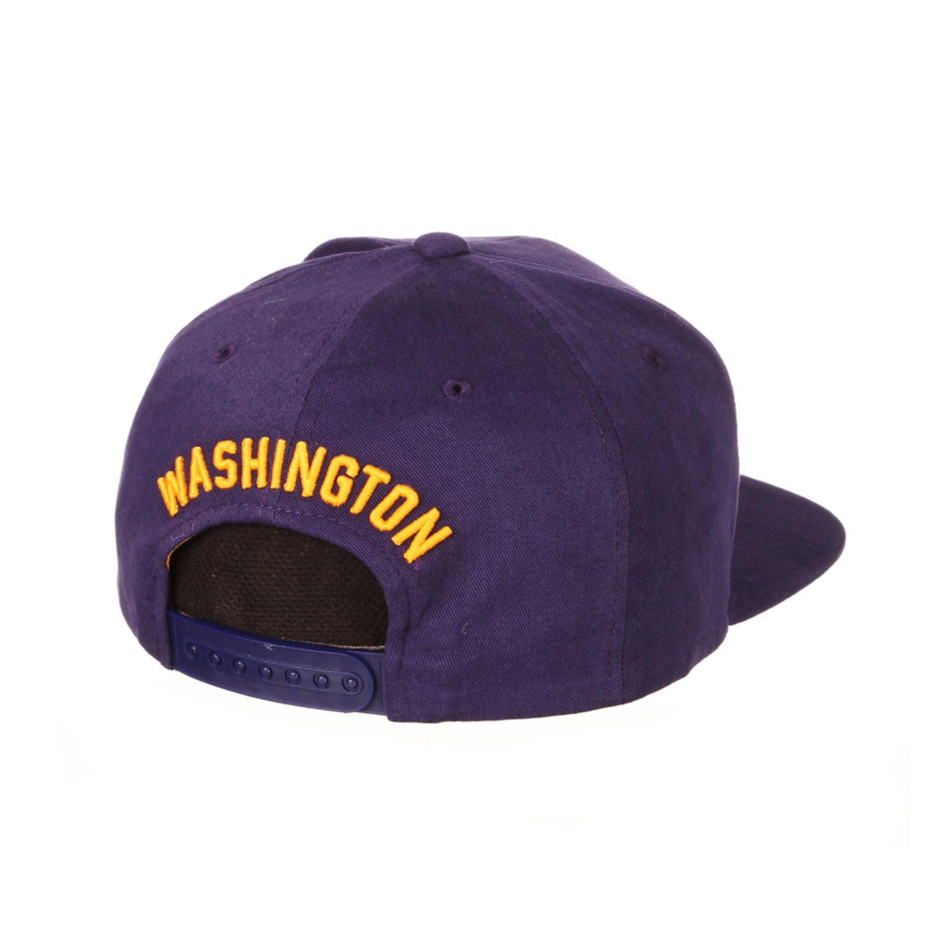 Zephyr Unisex Purple Vault Dog W Brushed Cotton Snapback – Back