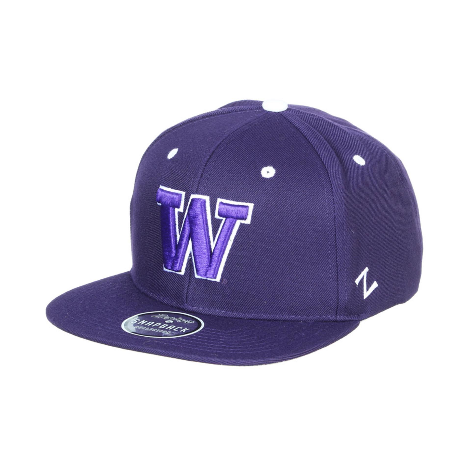 Zephyr Unisex Purple W Z11 Highlight Snapback Hat – Front