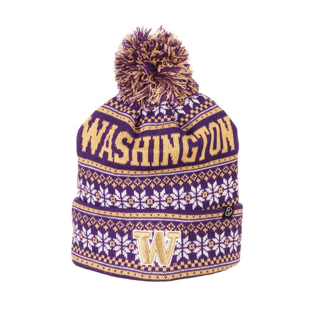 Zephyr Unisex Purple Washington Blitzen Pom Knit