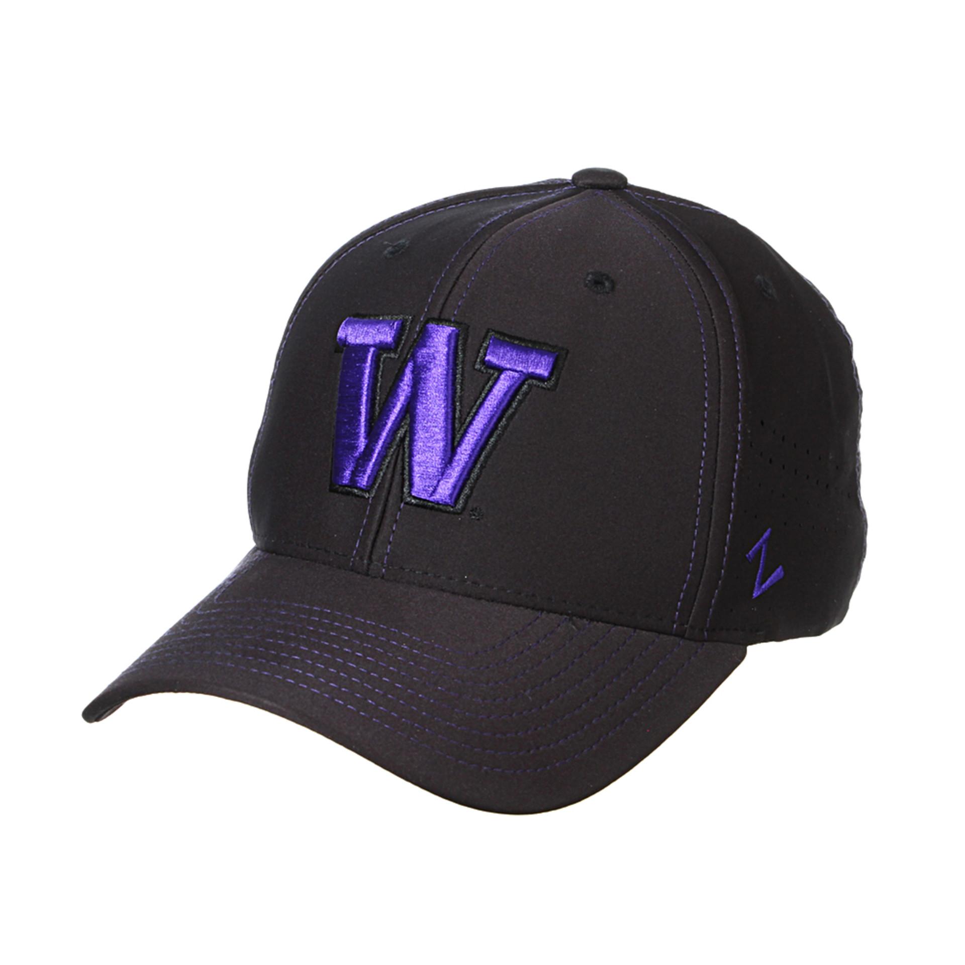 Zephyr Unisex W Aperture Stretch Fit Hat – Black – Front