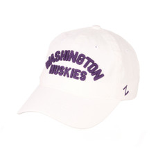 Zephyr Unisex White Washington Huskies Prime Relaxed Hat – Front