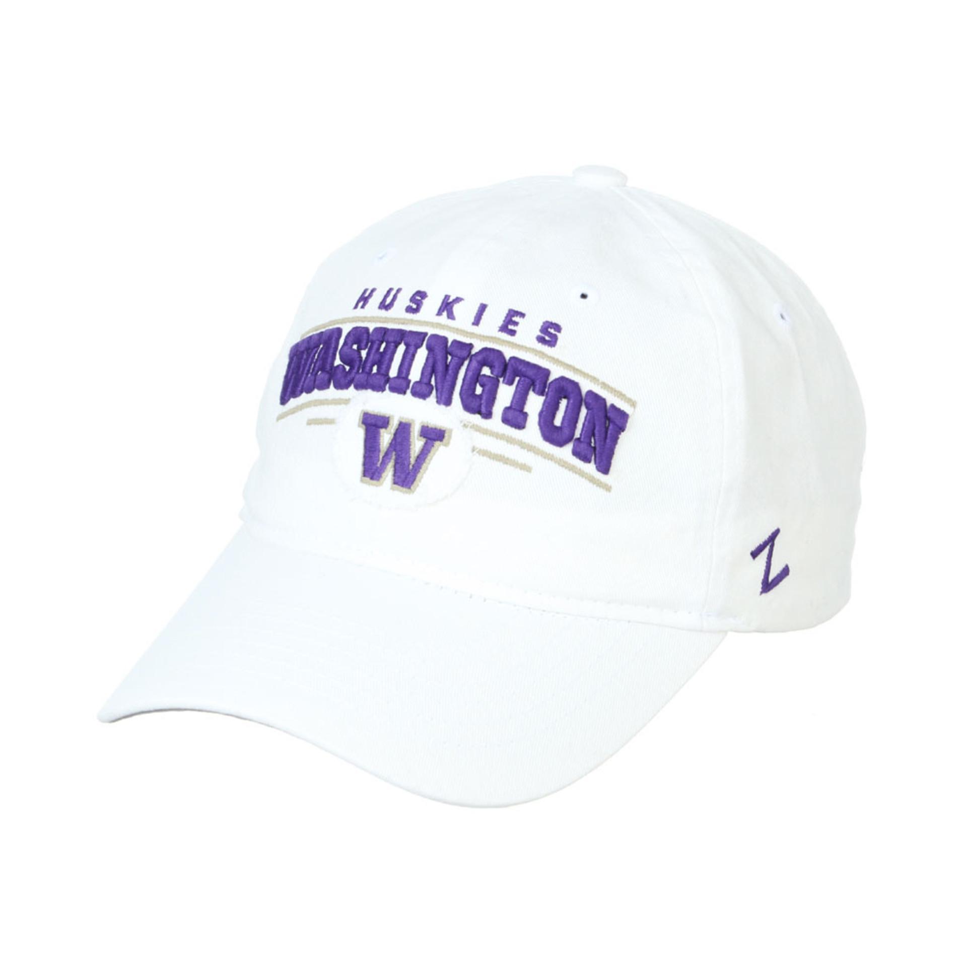Zephyr Unisex White Washington W Collegian Adjustable Hat – Front