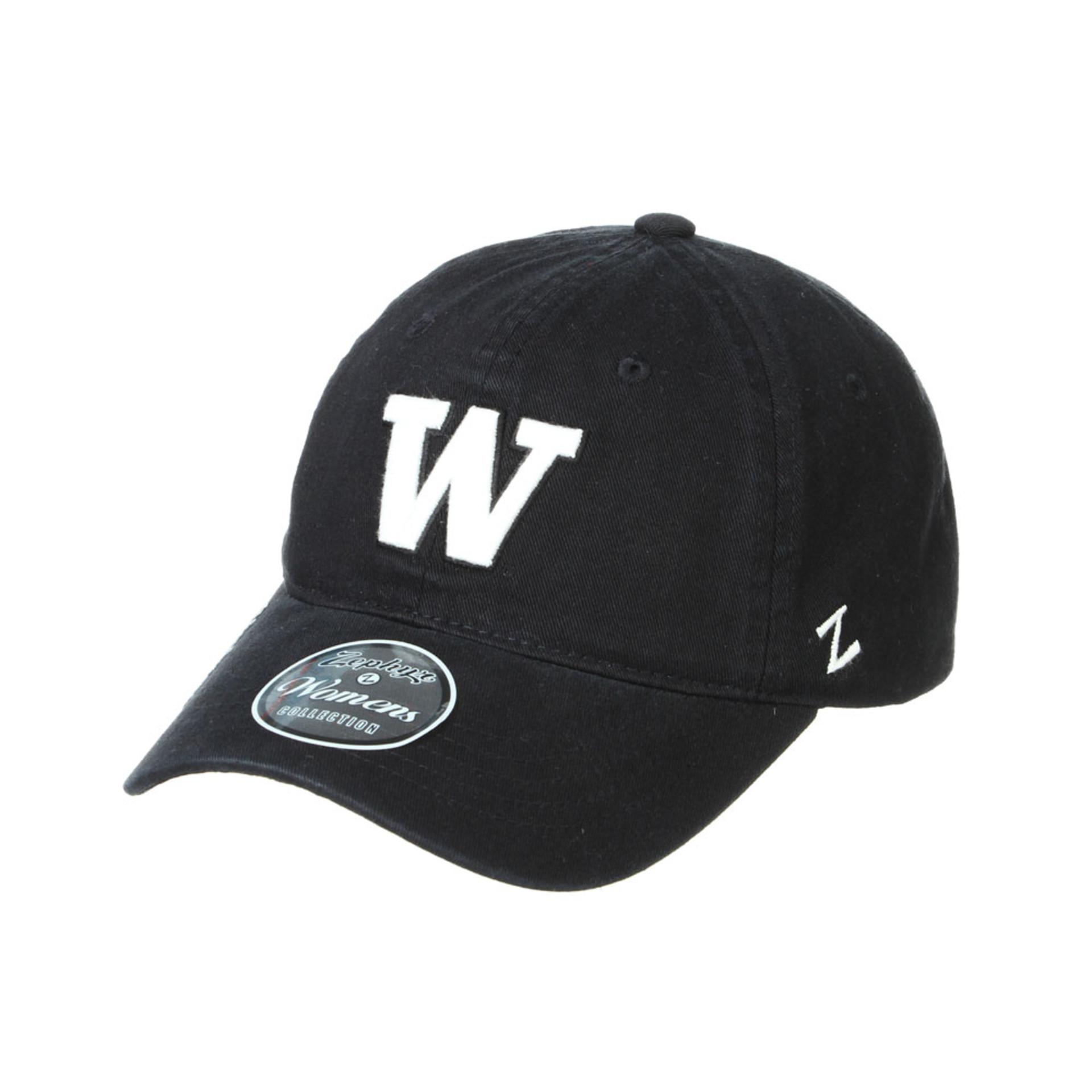 Zephyr Women's Black W Pepper Adjustable Hat – Front