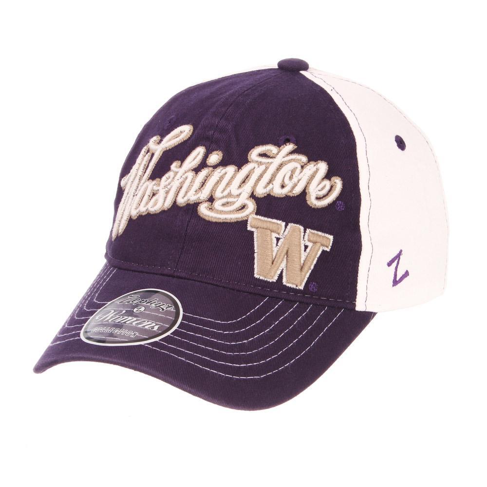 Zephyr Women s Purple Washington Vogue 2 Snap Buckle Hat 5c1a48671