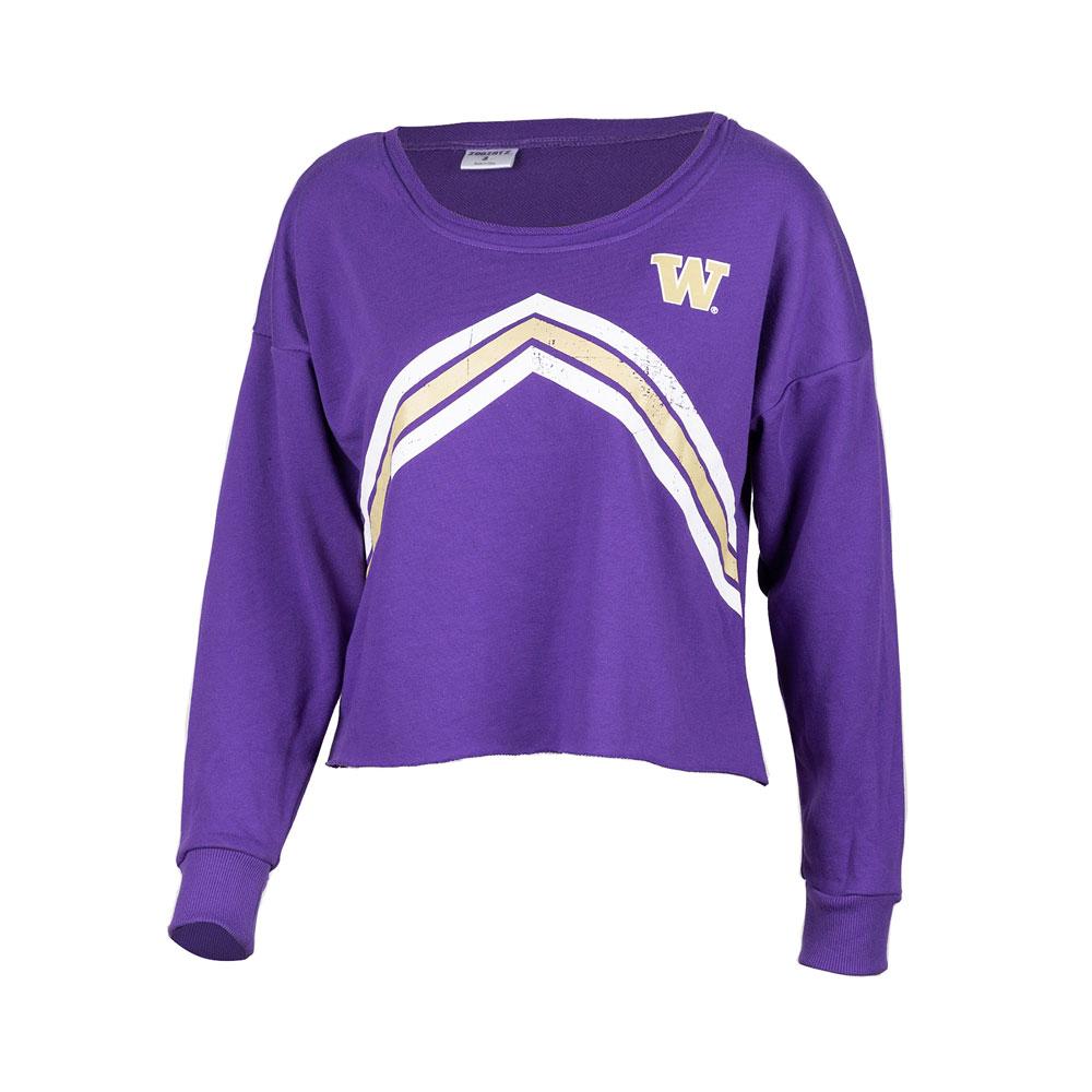 Zoozatz Women's W Stripes Crop Sweatshirt