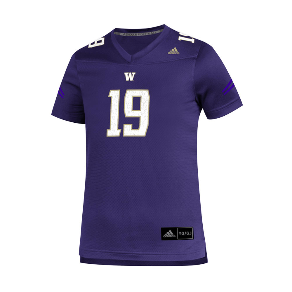 reputable site 325b1 e60b0 adidas Kids' Washington Huskies #19 Replica Football Jersey