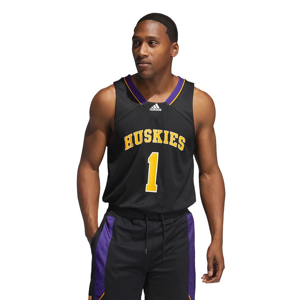 adidas Men's Huskies #1 Reverse Retro Basketball Jersey