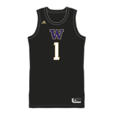 adidas Men's W #1 Swingman Basketball Jersey – Black – Front