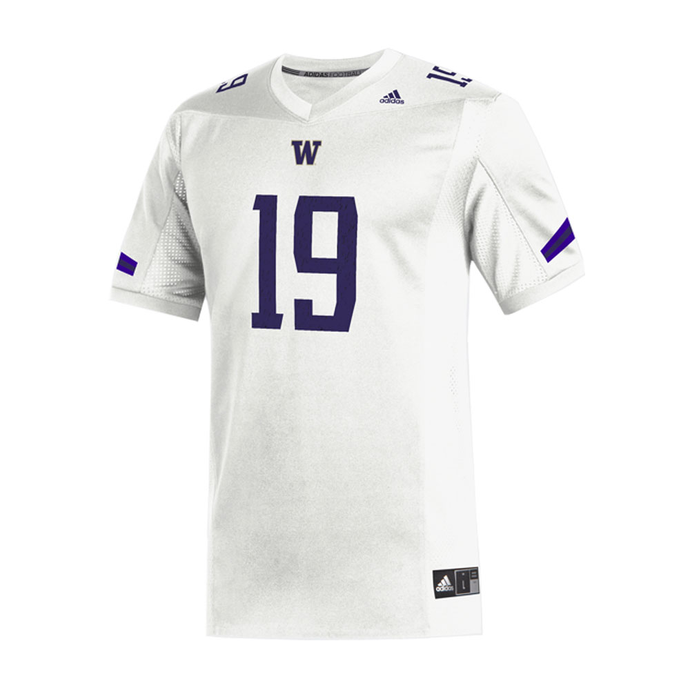 adidas Washington Huskies Replica Football Jersey White