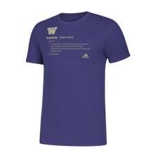 adidas Men's W Huskies Definition Amplifier Tee – Purple