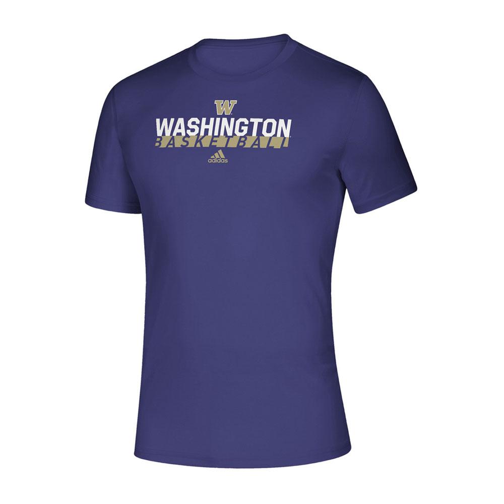 adidas Men's W Washington Basketball Amplifier Tee – Purple