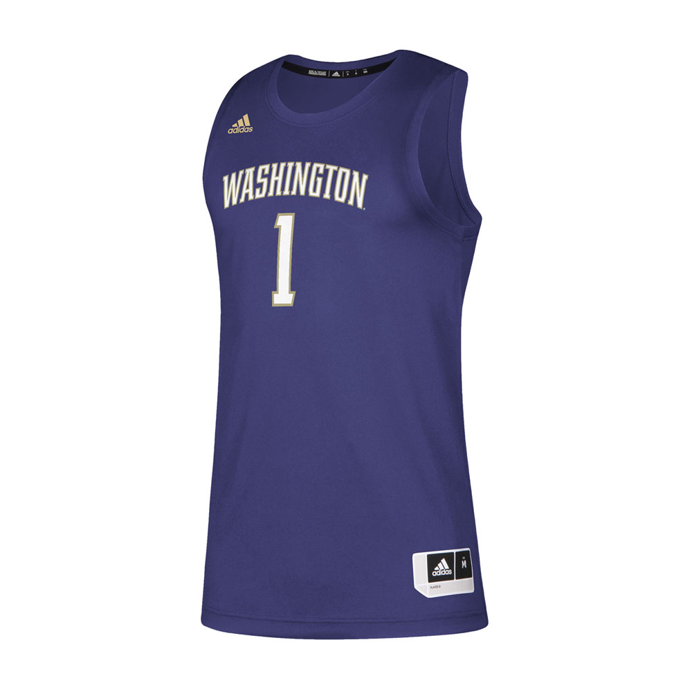 adidas Men's Washington #1 Swingman Basketball Jersey – Front