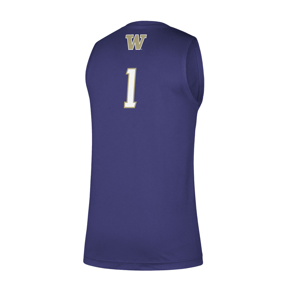 adidas Men's Washington #1 Swingman Basketball Jersey – Back
