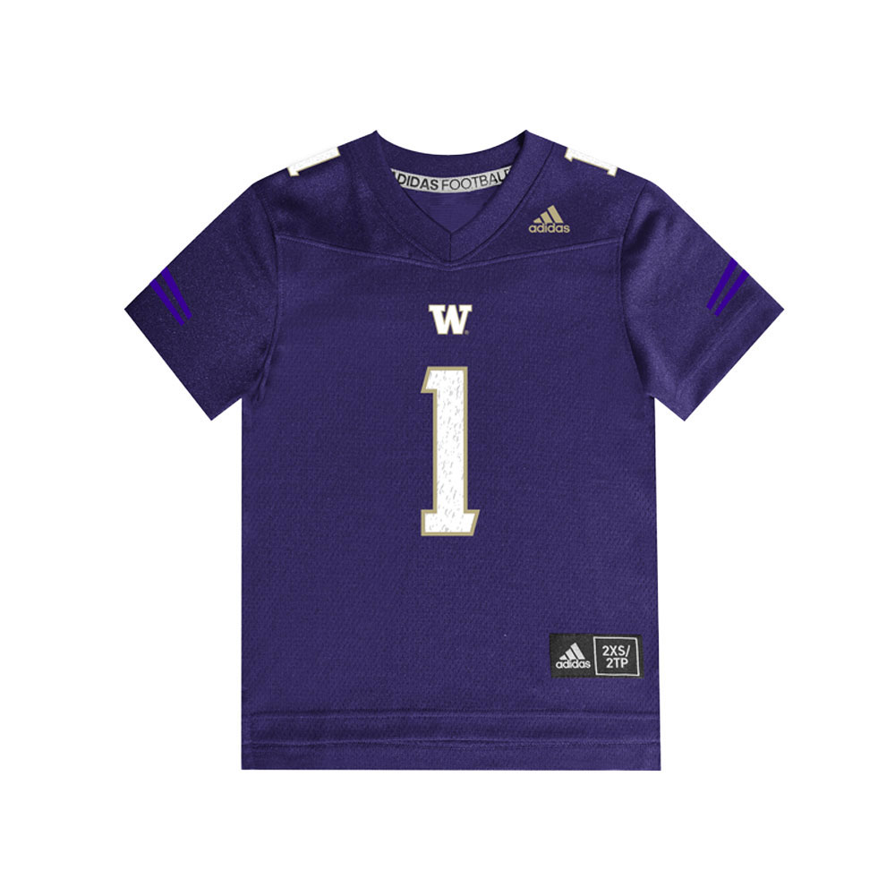 adidas Toddlers' Washington Huskies Replica Football Jersey