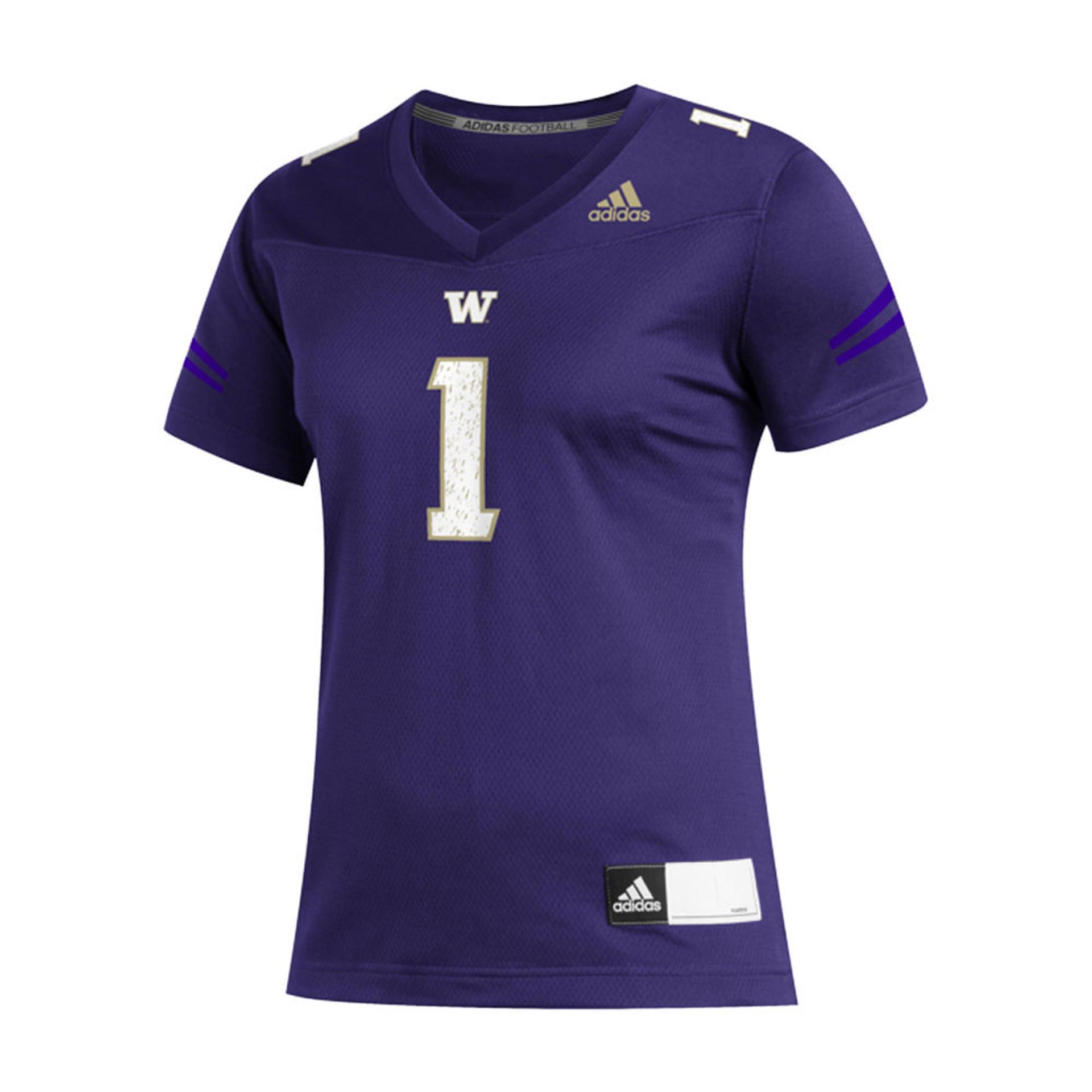 adidas Women's Washington Huskies Replica Football Jersey Purple