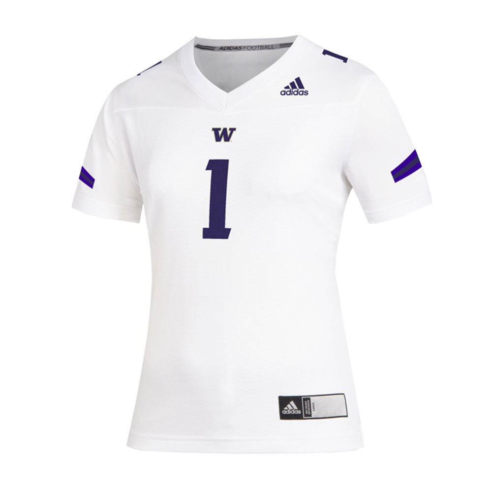 adidas Women's Washington Huskies Replica Football Jersey White