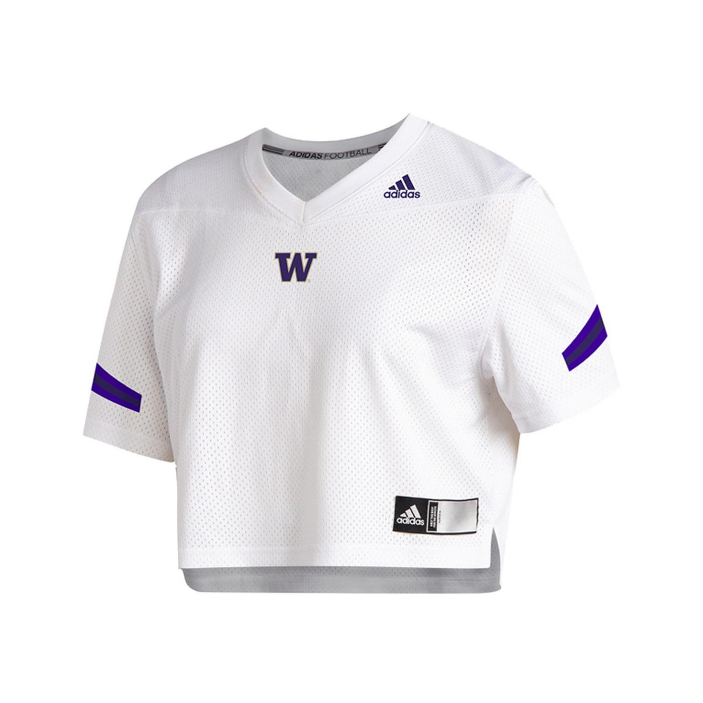 adidas Women's Washington Huskies Crop Jersey