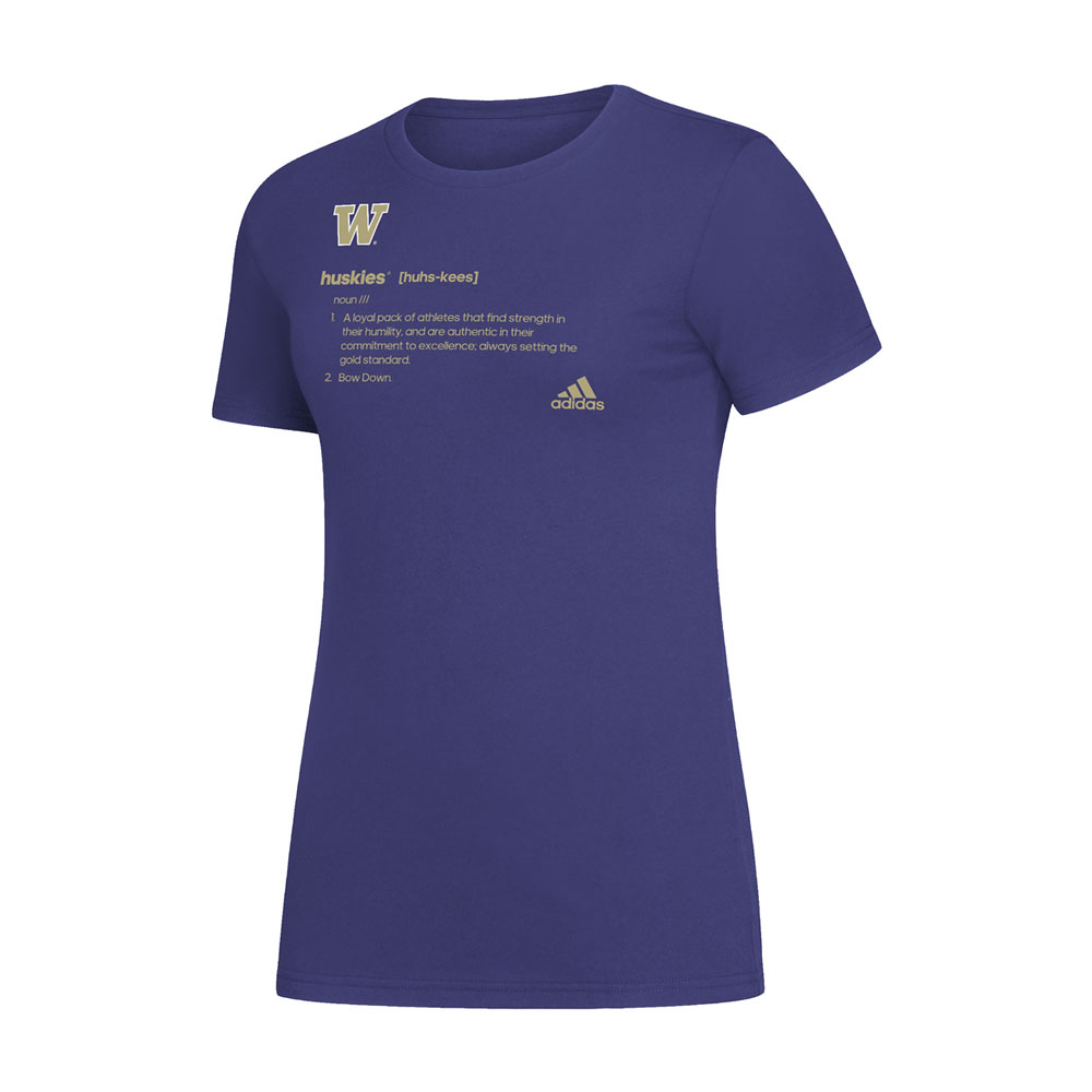 adidas Women's UW Huskies Definition Amplifier Tee